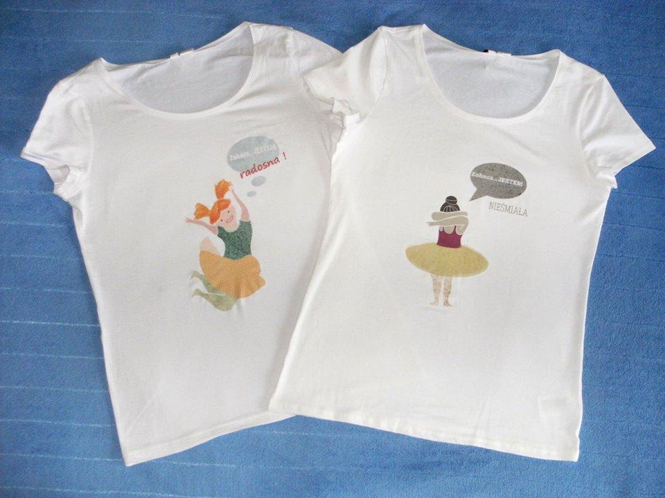 Koszulki Fundacji Zobacz... JESTEM, ciekawe koszulki z nadrukami