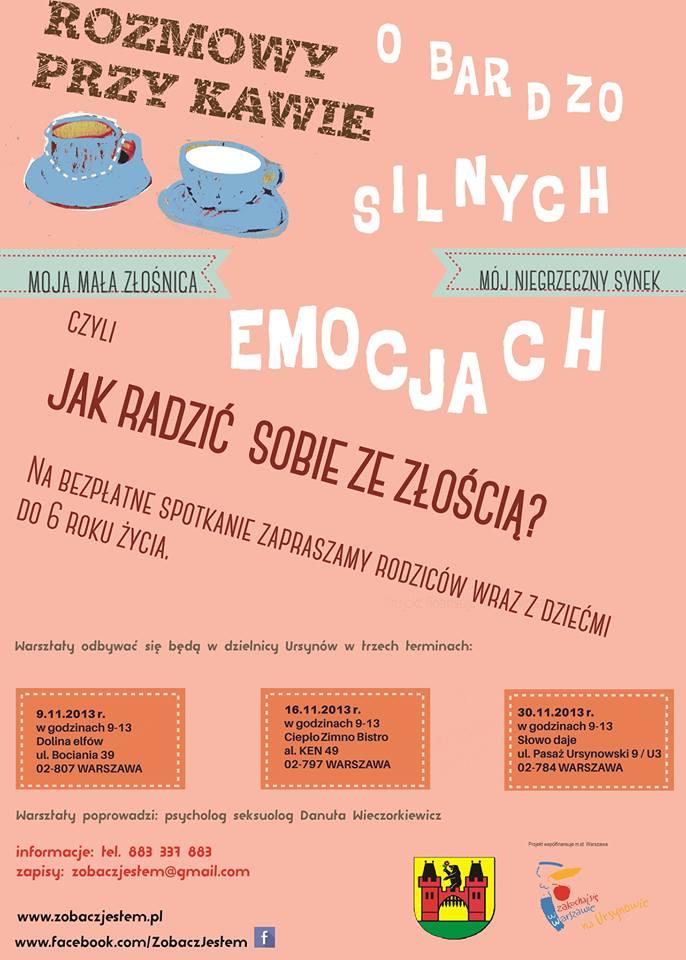Plakat warsztaty Fundacja Zobacz JESTEM