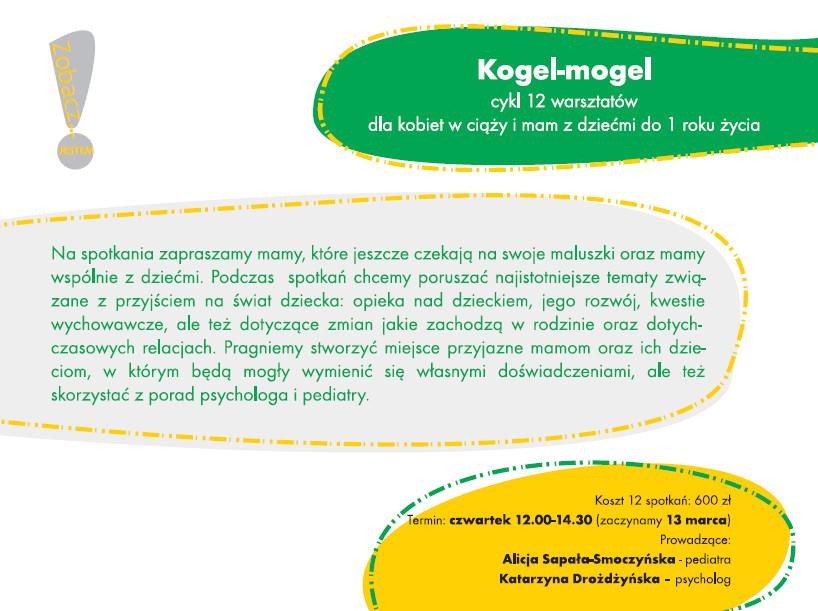 Fundacja Zobacz Jestem Kogel Mogel cykl 12 warsztatów dla kobiet w ciąży i mam z dziećmi do 2 roku życia