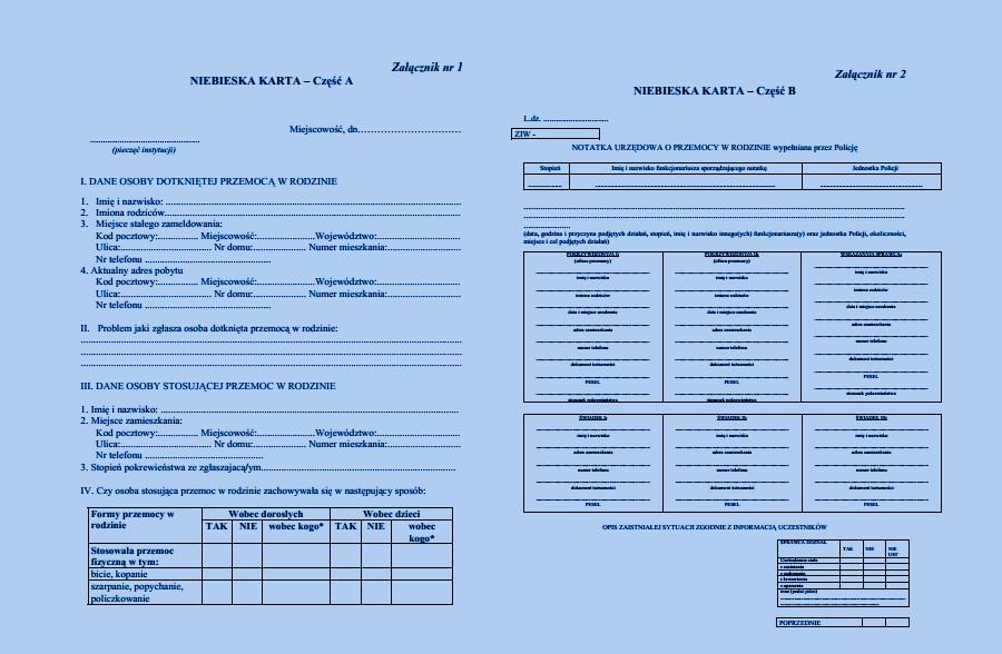 Prawne aspekty przeciwdziałania przemocy - Niebieska Karta - Fundacja Zobacz... JESTEM