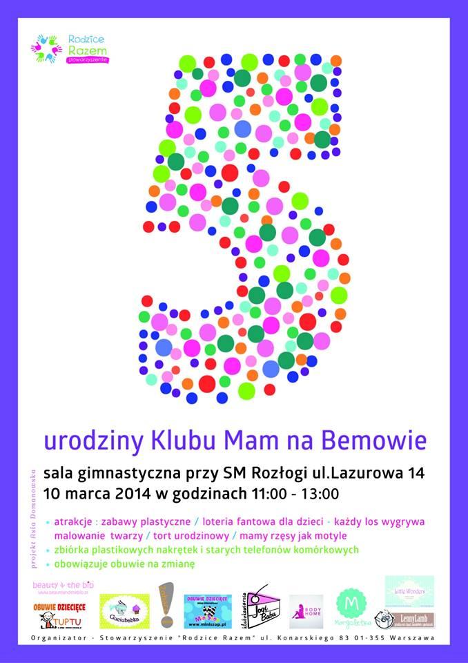 Urodziny Klubu Mam na Bemowie (kolorowy plakat dla dzieci) - Fundacja Zobacz... JESTEM