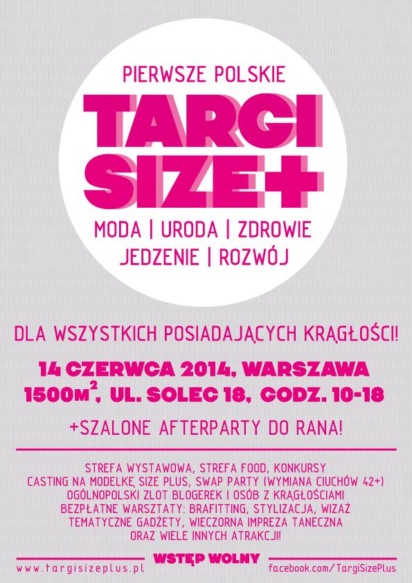 Targi Size+ (plus) 2014 plakat duży