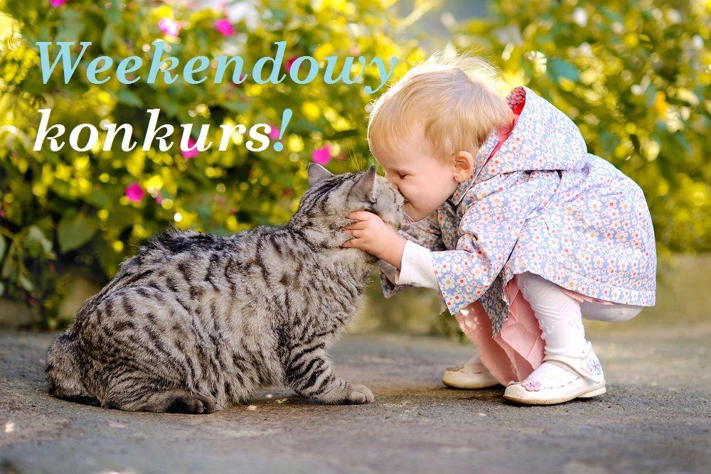 Weekendowy konkurs Fundacja Zobacz... JESTEM dziecko i kot, wiosna, mała dziewczynka, zabawy z dzieckiem, weekend z dzieckiem